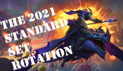 A unique image for Hearthstone's upcoming standard set rotation in 2021