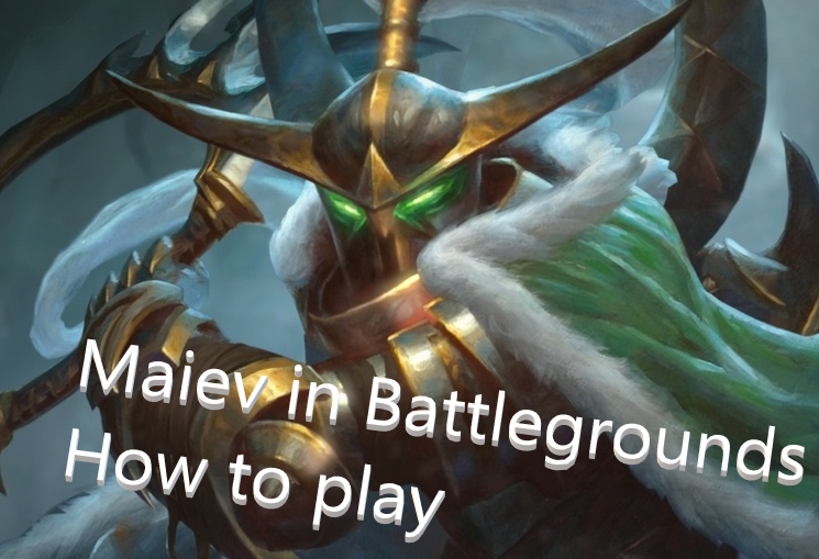 Playing Maiev Shadowsong in Hearthstone Battlegrounds Featured Image