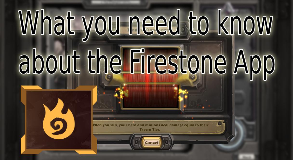 Hearthstone Firestone App